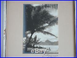 Orig Vtg 1930s 40s Honolulu Hawaii Scenic B&W Signed Photograph Photo Framed