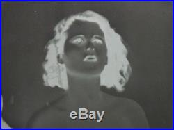 Original 1933 Vintage Negative Photograph of Hedy Lamarr ecstasy first nude Film