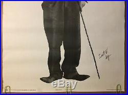 Original Vintage Poster 1977 Charlie Chaplin Retro Black & White Pin-up 70s