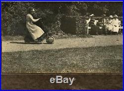 Oversized vintage Ad photo Krupp Autoped scooter bike Roller Foto Germany 1920