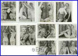 Playful nude women 10 vintage pinup photo lot