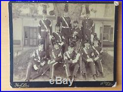 RARE VINTAGE MILITARY Armed with Swords Military School Cadets Pach Bros. Photo