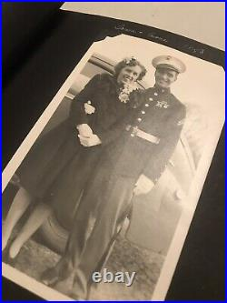 RARE Vtg 1940s Family Photos Album with Handwritten Notes, Military, Boating, etc