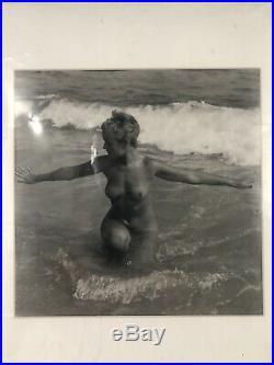 Rare Vintage Tasteful Nude Andre de Dienes Original Silver Gelatin Art Photo