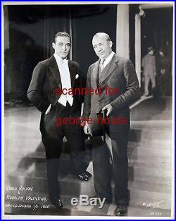 Rudolph Valentino (3) Vintage Photographs Coach Knute Rockne Notre Dame
