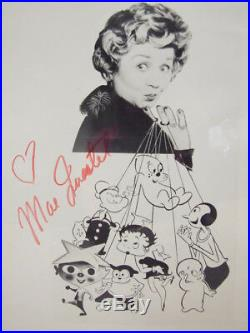 Scarce Vintage Mae Questel Betty Boop Autographed Signed 8 X 10 B & W Photo