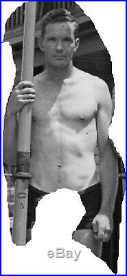 Sculling Crew, U. Of WA, 1938, vintage wire service photo, gay interest