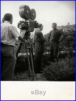 TO CATCH A THIEF (1955) Vintage BTS photo ft. Hitchcock, Grant on location