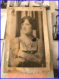 Tattoo vintage 1920s Percy Waters Postcard. Antique collectors photograph