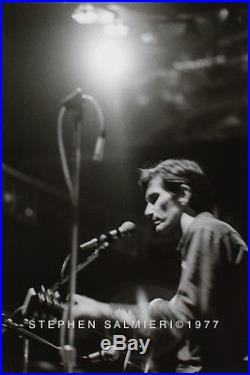 Townes Van Zandt At The Lone Star Cafe Photo / 8X10 B&W Vintage Silver Print