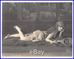 Tragic MARY MILES MINTER vintage sexy risque DBW c1920 leggy Witzel pinup photo