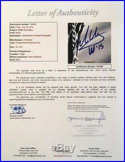 VINTAGE EDDIE VAN HALEN autographed B&W 16x20-PERFECT signature-JSA Y61997