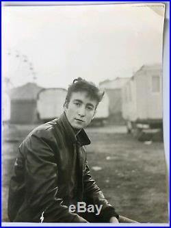 VINTAGE John Lennon Portrait By Astrid Kirchherr Large 11 × 14 Original Photo
