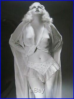 Vintage 1930s Burlesque Star Photo. 10'' x 8'' in. Bloom Studio, Chicago. Nude #2