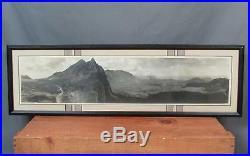 Vintage 1930s Hawaii Nuuanu Pali Panoramic Photograph Oahu RL Dancy Army/Navy