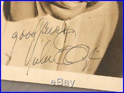Vintage 1945 Duke Ellington Autographed Hand Signed B&w Photograph Good Luck