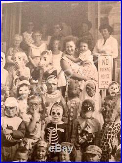 Vintage 1950s HALLOWEEN Original Photo Children In Costumes Large Picture Rare
