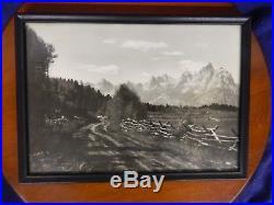 Vintage Antique Original Harrison R. Crandall Photograph Teton Park Marked