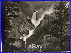 Vintage GELATIN SILVER PRINT Photograph LOWER FALLS YELLOWSTONE NATIONAL PARK