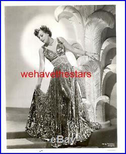 Vintage Joan Crawford RUBY DRESS ADRIAN FASHION'39 WOMEN MGM Publicity Portrait