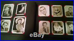 Vintage Lot (180) Hollywood Star Photos Album 1940' & 50's Not Glued/pasted