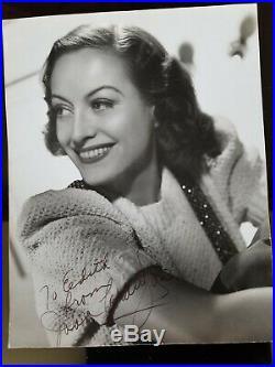 Vintage Original JOAN CRAWFORD 1938 Signed Autographed Portrait Photo