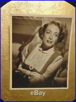 Vintage Original JOAN CRAWFORD 1951 Signed Autographed Portrait Photo