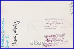 Vintage Original Press Photo Paul McCartney, Brian Epstein -Stamped Dezo Hoffman