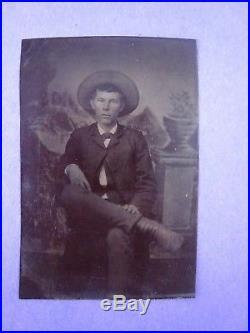 Vintage Outlaw Tintype Photo.' John Wesley Hardin'. L-A-L. Wild West Killer