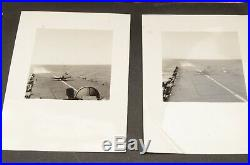 Vintage PACKED photo album US NAVY SHIPS PLANES 355 BW pics ATQ Candid soldier