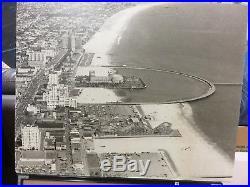 Vintage Photo 24 x 30 Long Beach Ca Waterfront Rainbow Pier Pike Rollercoaster