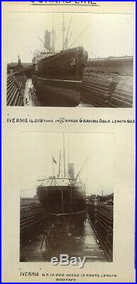 Vintage Photo Album Of 19th & 20th Century Ships And Scenes