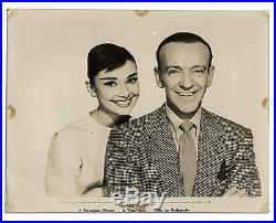 Vintage Photo of Fred Astaire & Audrey Hepburn 1957