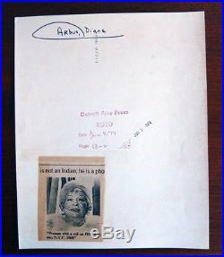 Vintage Rare Diane Arbus Press Photo / Date Stamped June 2nd 1974 New York