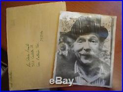 Vintage Real Jack Albertson Signed Autographed Black White Manila Photo Envelope