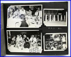 Vintage Thai Photo Album 1950s c. 220 photographs. Thailand Siam Original