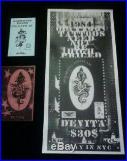 Vintage Thom DeVita Gallery Tattoo Art Card Black and White 80s Photograph