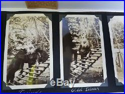 Vintage USA Western Style Photo Album 1930's, 40's With Over 160 Old Photos