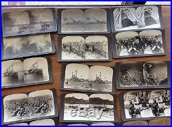 Vintage Underwood War stereoview Card Set Box Military Air Planes WWI Photos set