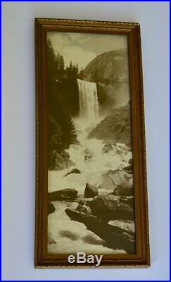 Vintage Yosemite National Park Vernal Falls Original Framed Photograph