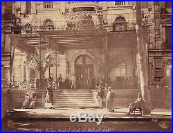 Vintage large photo hotel Shepheard palace Cairo Egypt Le Caire foto Bonfils 80