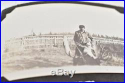 Vintage photo album 1920s 189 BW ATQ pics Horses Cars Kids Candid Antique