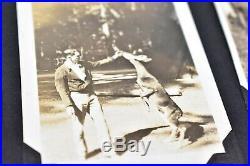 Vintage photo album 1920s-30s 221 BW ATQ pics Kids Family cars California CANDID