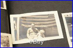 Vintage photo album 1920s-30s 271 BW pics Kids Family Cars Ships Boats Candid