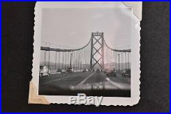 Vintage photo album 1930-50s Planes City life Family Cars 235 BW PICS candids