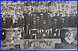 Vtg 1910 Navy Sailors Crew USS Delaware Battleship Commissioning photo Muller NY