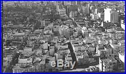Vtg 1950s 4x5 Photo Negative San Francisco Aerial Cityscape Super Sharp Detailed