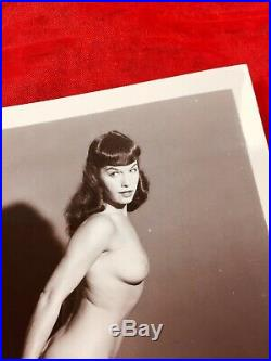 Vtg 1950s Original Model Bettie Page Camera Club Nude Girlie Risque Pinup Photo