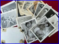 Vtg Odd Junk Drawer Lot Nude Risque Photos 16mm Marbles Razor Cards Adult Books