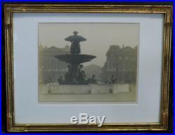 William C. Odiorne Photo Place de La Concorde Paris Vint Platinum Print c 1920s